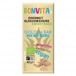 Bio Reismilch-Schokolade Golden White mit Kokosblütenzucker gesüßt 45g