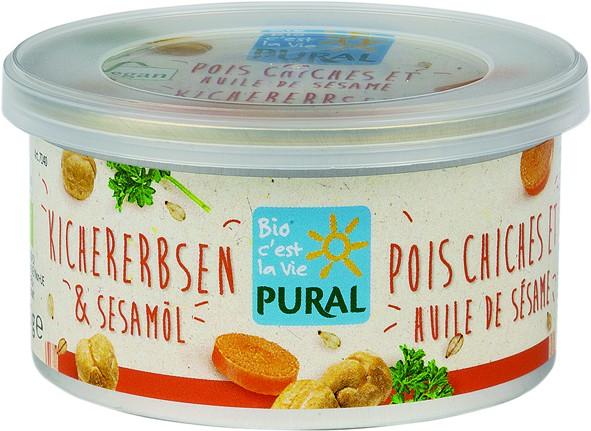 Pural Bio Aufstrich Kichererbsen & Sesamöl 125g