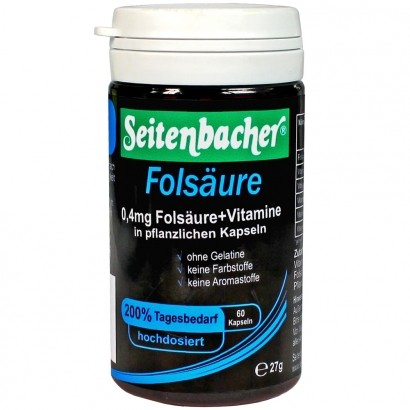 Folsäure Kapseln 0,4mg + Vitamine - 60 Kapseln