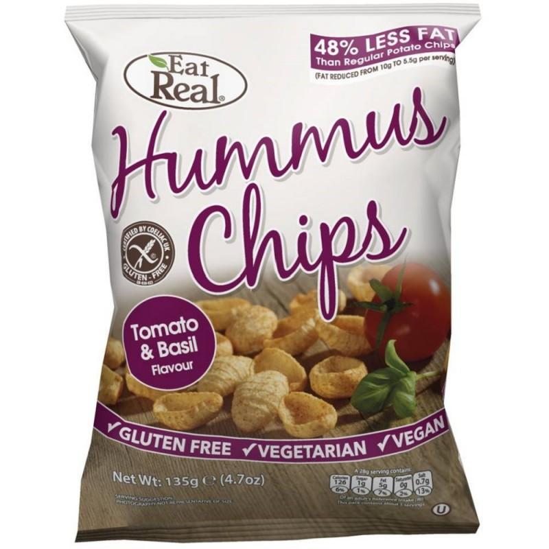 Hummus Chips Tomate-Basilikum 135g