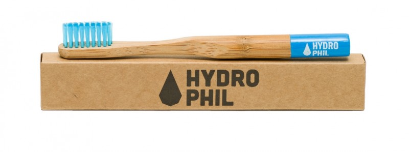 Hydrophil Bambus-Zahnbürste blau für Kinder