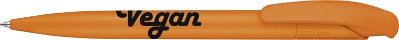 Biologisch abbaubarer Kugelschreiber mit Vegan Schriftzug - orange