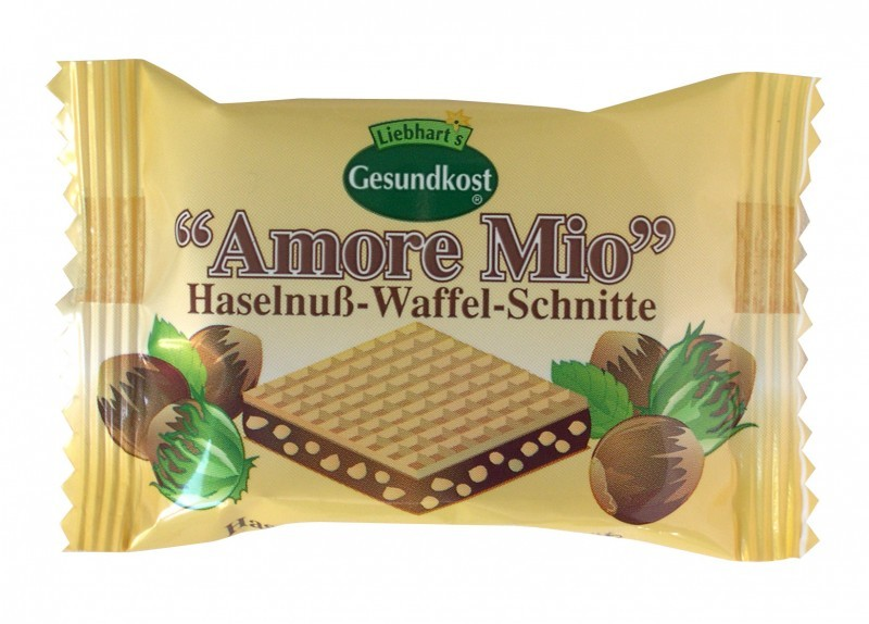 Amore Mio Haselnuss-Waffel-Schnitte 19g