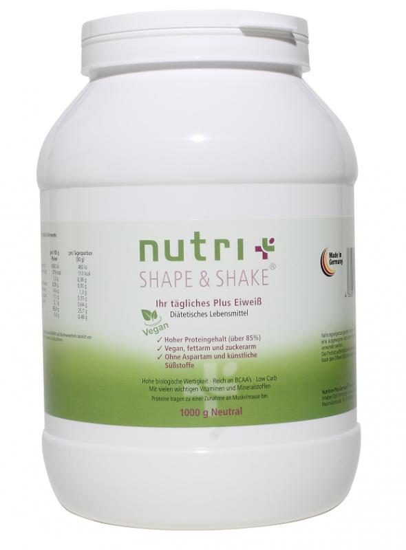 Nutri-Plus Shape & Shake Vegan 1000g - Neutral
