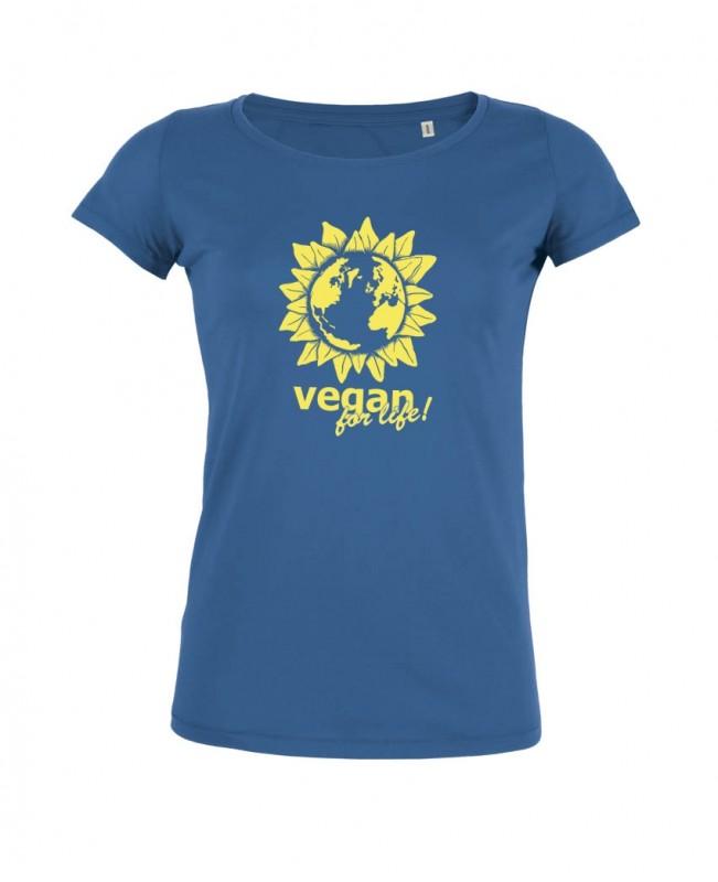 "Tailliertes Shirt ""Vegan for life"" Gr. XL"