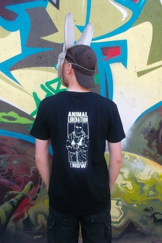 "T-Shirt ""Animal Liberation !NOW!"""