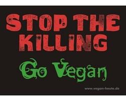"""Aufkleber """"Stop The Killing - Go Vegan"""""""