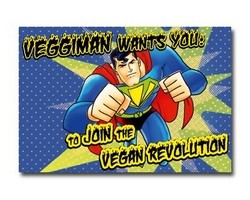 Aufkleber - Veggiman