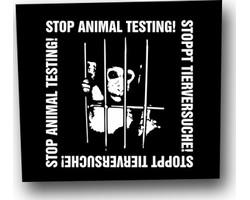 Aufnäher: Stop Animal Testing