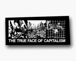 Aufnäher: The true face of capitalism