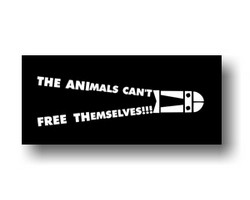 Aufnäher: The Animals Can't Free Themselves