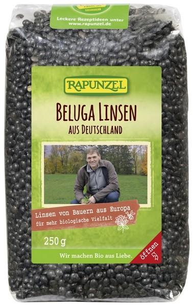 Bio Beluga Linsen schwarz aus Deutschland 250g