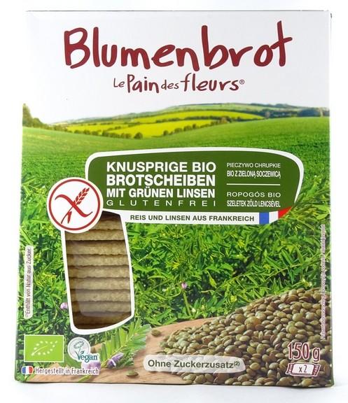 Bio Blumenbrot mit grünen Linsen 150g