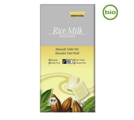 Bonvita Bio Weiße Reismilch-Schokolade 100g