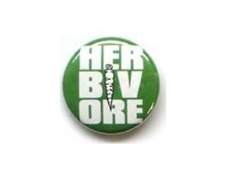 """Button """"Herbivore"""""""
