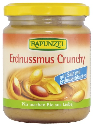 Bio Erdnussmus Crunchy mit Salz 250g