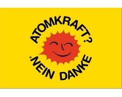"Fahne ""Atomkraft - Nein danke"""
