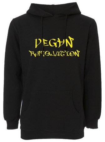 "Hooded Sweater ""Vegan Revolution"" - Flockdruck"
