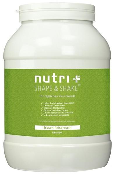 Nutri-Plus Shape & Shake Erbsen-Reisprotein Schoko, Soja- und Glutenfrei 1000g