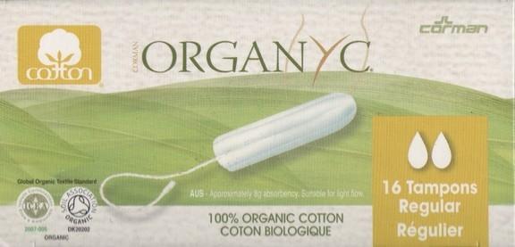 Organyc Tampons Regular 16 Stück