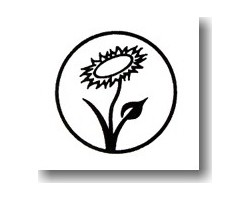 Aufnäher: Vegan Flower