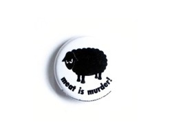 "Button ""Meat is murder"""