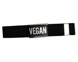 """Gürtel """"Vegan"""" schwarz 65cm"""