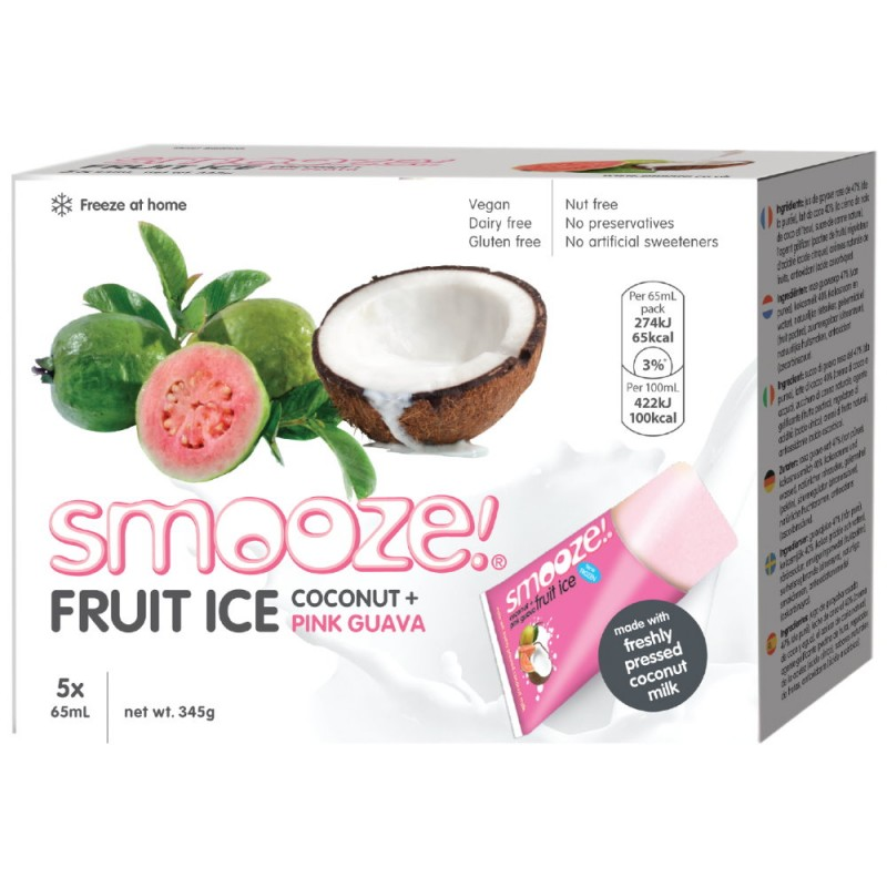 Smooze Eis Kokos + Pink Guave 325ml