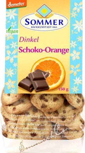 Sommer & Co. Bio Dinkel-Schoko-Orange Cookies 150g