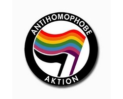 Button - Antihomophobe Aktion
