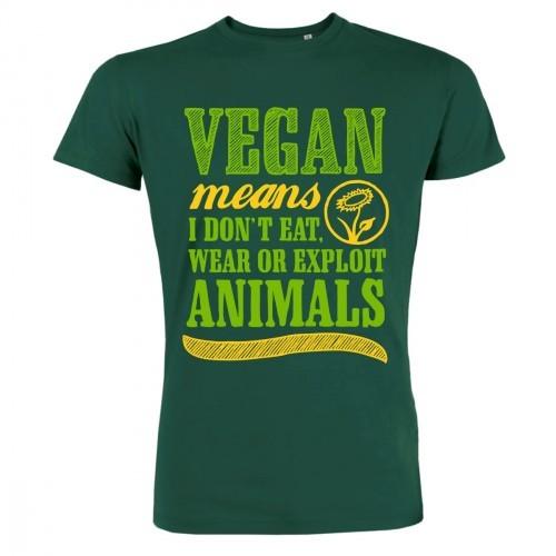 "T-Shirt ""Vegan means"""