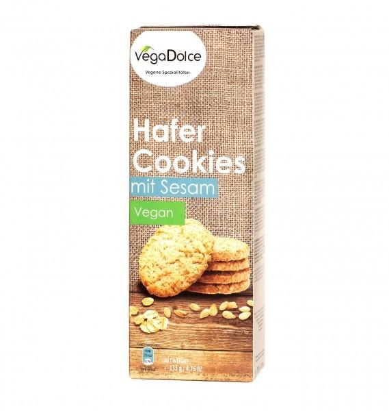 VegaDolce Hafer Cookies mit Sesam 135g