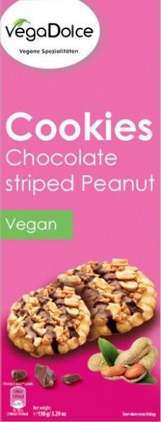 VegaDolce Chocolate Striped Peanut Cookie 150g