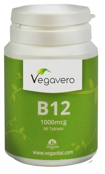 Vegavero Vitamin B12 (+B6 und Folsäure) 1000mcg, 90 Tabletten