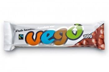 VEGO Bio Whole Hazelnut Chocolate Bar 150g
