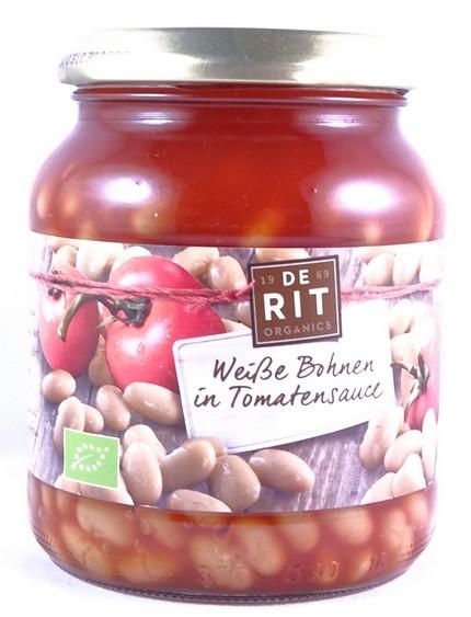 Bio Weiße Bohnen in Tomatensauce 360g