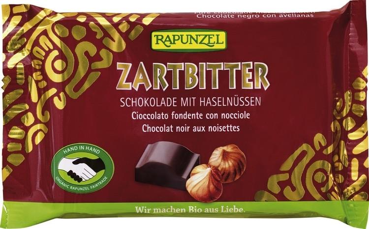 Bio Zartbitter Schokolade mit ganzen Nüssen 100g