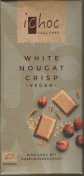 ichoc Bio White Nougat Crisp 80g