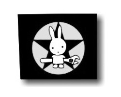 Aufnäher: Rabbit with Wrench