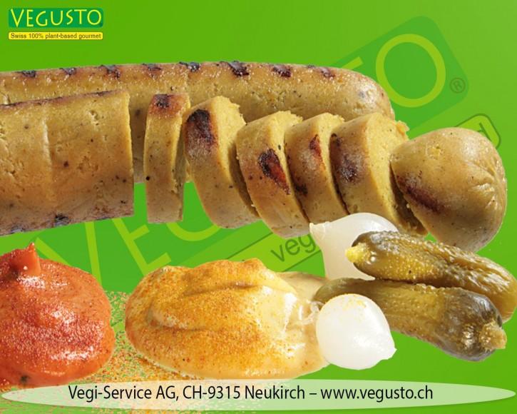 Vegusto Vegi-Bratwurst Curry, 2x140g MHD 26.08.21!!!
