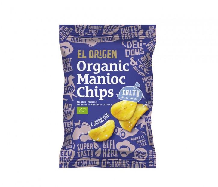 Bio Maniok Chips mit Meersalz, 80g