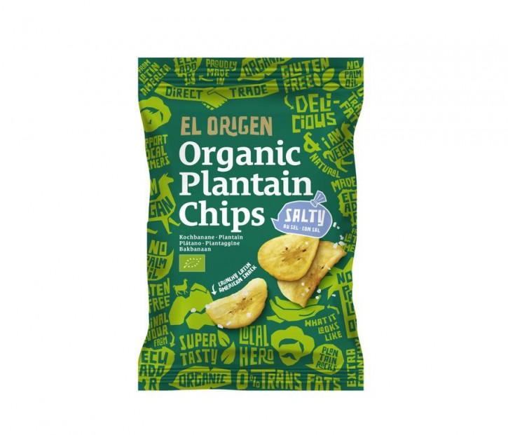 Bio Kochbananen Chips mit Meersalz, 80g