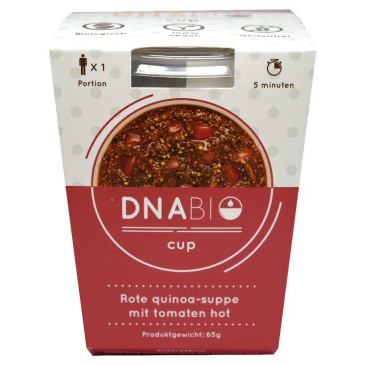 Bio Hot Quinoa Cup - Tomaten Suppe 65g