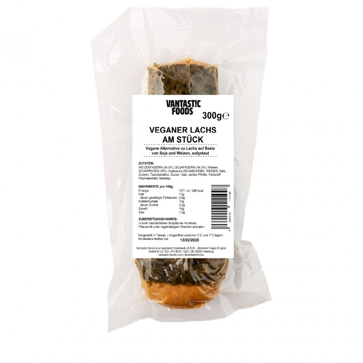 Vantastic foods VEGAN LACHS am Stück, 300g