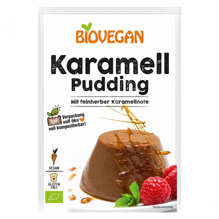 Biovegan Bio PARADIES PUDDING Karamell, 43g