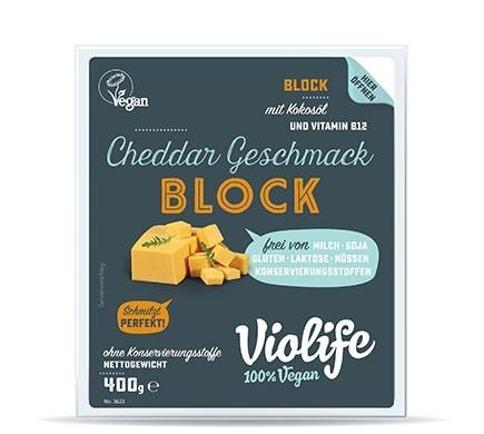 Violife BLOCK mit Cheddar Geschmack, 400g