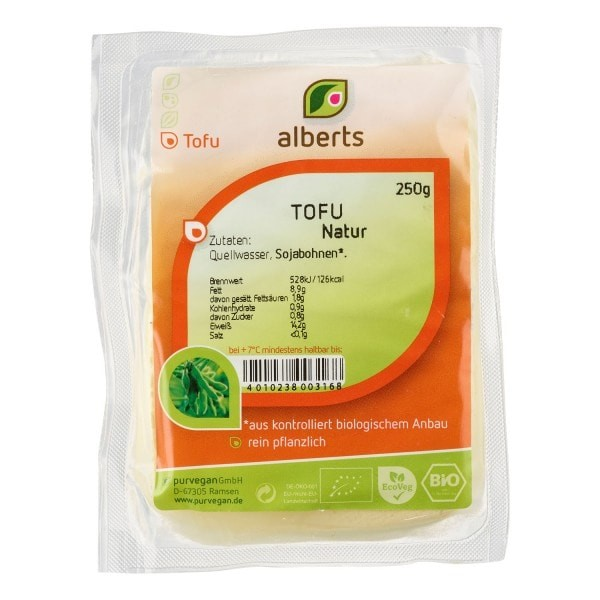 Alberts TOFU Natur, BIO, 250g