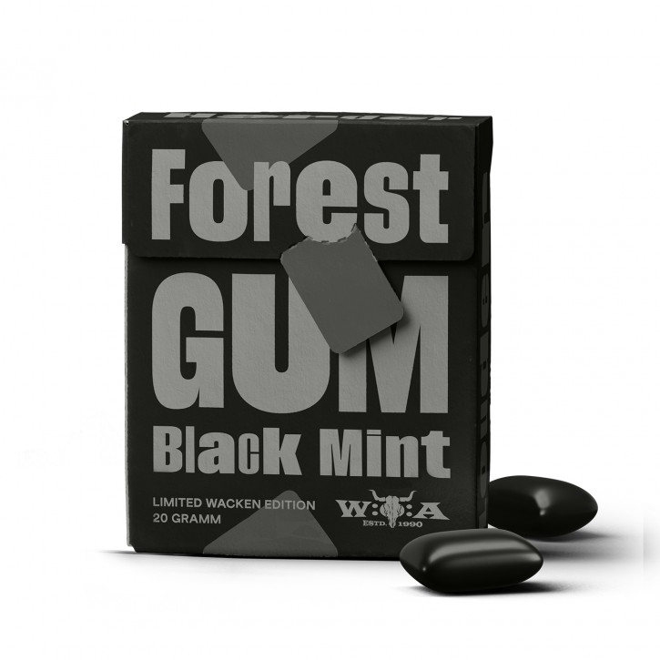 Forest Gum KAUGUMMI BLACK MINT Wacken Edition, 20g