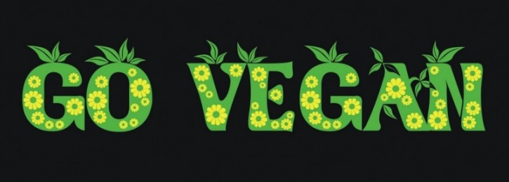 """Aufkleber """"Vegan - Blumen"""""""