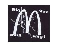 Aufnäher: Big Mac muss weg!